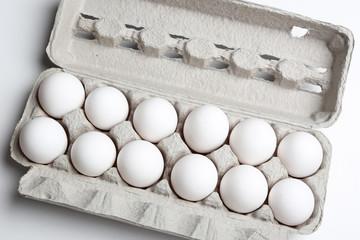 Eggs isolated on white Eggs