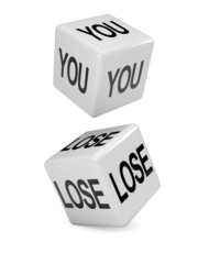 "White dice ""You Lose"""