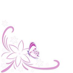sfondo fiore e faralla
