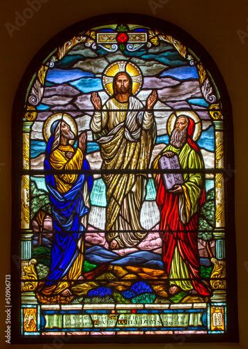Obraz na Szkle Jesus comes from heaven