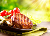 Fototapety Grilled Beef Steak Meat