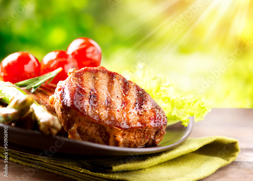 Grilled Beef Steak Meat