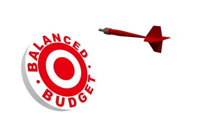 Balanced Budget 3D Dartboard