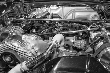Close-up Shot of an Engine