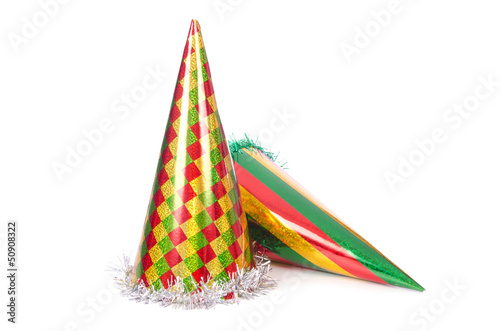 Party hats isolated on the white