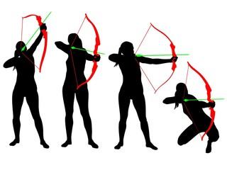 Female archer silhouette