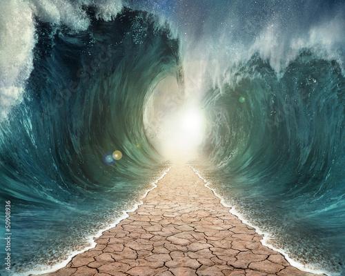 Leinwanddruck Bild Parted Seas