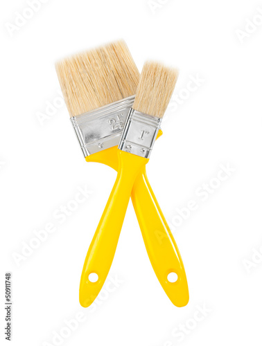 two yellows paintbrushes