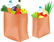 Paper bag with healthy food