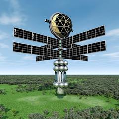 Raumsonde in der Erdatmosphäre