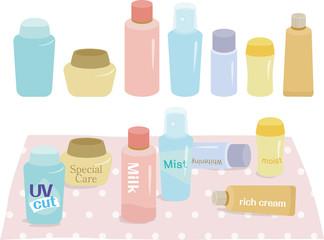 化粧品のボトルやチューブ