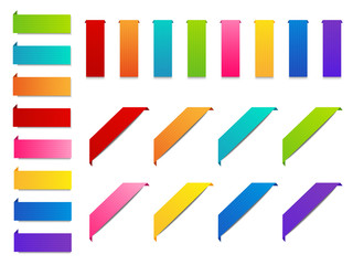 Set of color paper ribbons