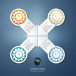 Color Gears Infographics Options Banner. Vector illustration. ca