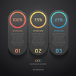 Modern black infographics banner. Vector illustration.