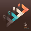 Modern arrow origami style step up options banner. Vector illust