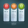 Colorful step up options banner template. Vector illustration.