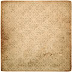 old vintage grunge paper sheet with pattern