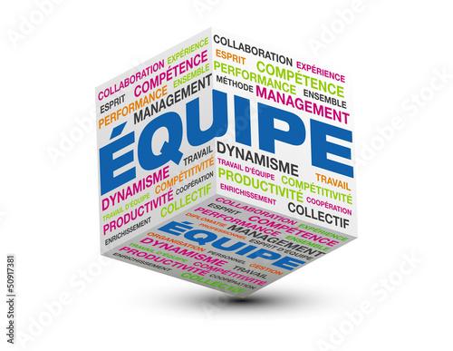 cube 3d équipe