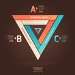 Modern infinite triangle origami style options banner. Vector