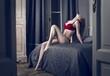 red lingerie