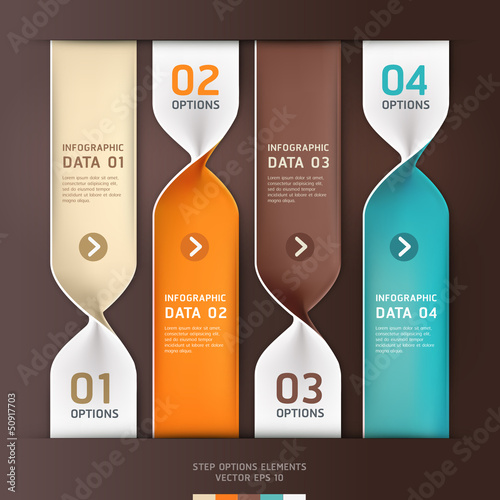 Modern spiral infographics options banner. Vector illustration.