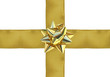 ruban doré emballage cadeau