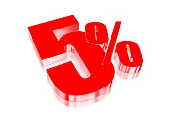 5 percent discount on three-dimensional