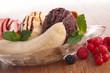 gourmet banana split and berries