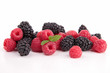 assortment of blackberries and raspberries