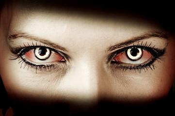 Evil zombie eyes