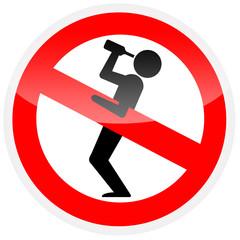 Sinal de proibição - Proibido ficar alcoolizado 2