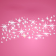 Pink fantasy background with stars