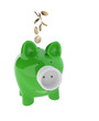 piggy bank with Electric Plug and euro coins