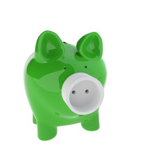 piggy bank with Electric Plug