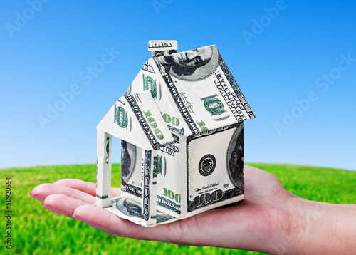 House made of money in hand