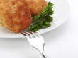 roasted cutlets with fork