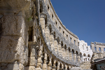Roman amphitheater in Pula