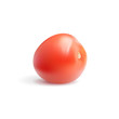 Photo realistic red tomato on white background
