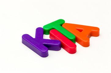 Kita  - Buchstaben als Wort