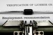 Employment recommendation