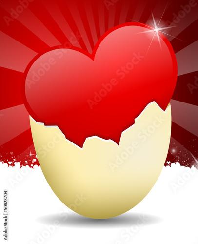 Herz, Ei, Ostern, Liebe