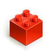 brick meccano toy vector illustration isolated on white