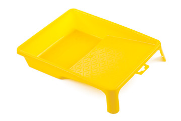 yellow developing tray isolated