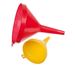 red and yellow watering can