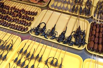 Brochettes de scorpions - Marché Wangfujing, Beijing China