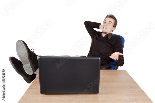 sitting back