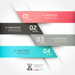 Modern origami style options banner. Vector illustration.