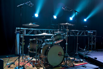 Drum Kit on Stage
