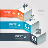 Modern Business step options. Vector illustration.