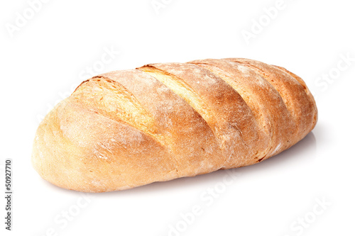Aluminium Brood single french loaf bread isolated on white background